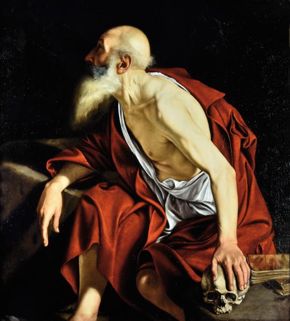 """<span class=""""artist""""><strong>Orazio Gentileschi</strong></span>, <span class=""""title""""><em>Saint Jerome</em></span>"""