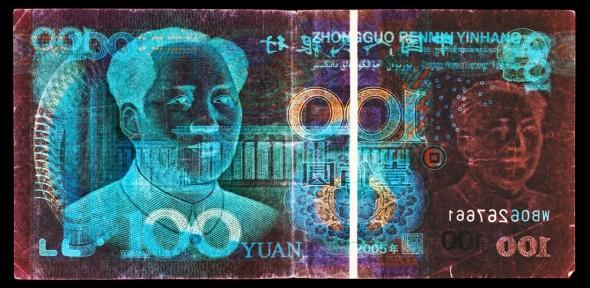 "<span class=""artist""><strong>David Lachapelle</strong></span>, <span class=""title""><em>Negative Currency: 100 Yuan</em>, 2011</span>"
