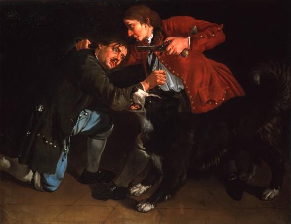 "<span class=""artist""><strong>Giacomo Ceruti</strong></span>, <span class=""title""><em>The Brawl (La Rissa)</em>, c.1720</span>"