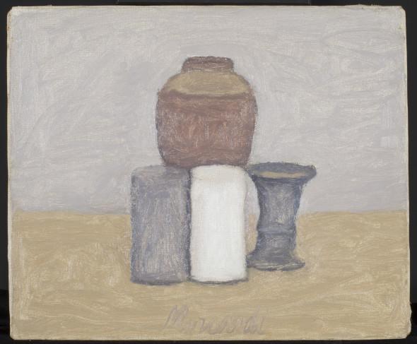 "<span class=""artist""><strong>Giorgio Morandi</strong></span>, <span class=""title""><em>Natura Morta (Still Life)</em>, 1961</span>"