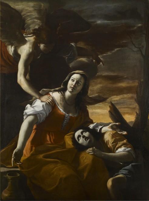 "<span class=""artist""><strong>Mattia Preti</strong></span>, <span class=""title""><em>Hagar & the Angel</em></span>"