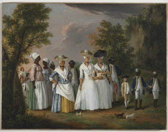 Agostino Brunias, Free Women of Color with Their Children and Servants in a Landscape, ca. 1770–96