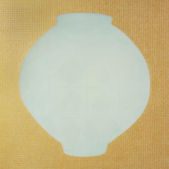 """<span class=""""artist""""><strong>Ik-Joong Kang</strong></span>, <span class=""""title""""><em>Moon Jar with Golden Karma</em>, 2015</span>"""