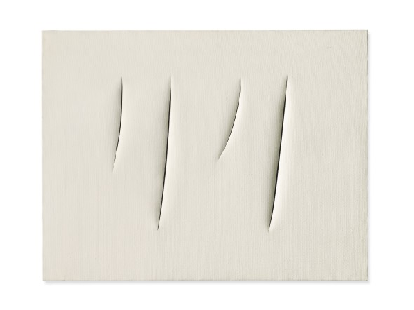 "<span class=""artist""><strong>Lucio Fontana</strong></span>, <span class=""title""><em>Concetto Spaziale, Attese</em>, 1960</span>"