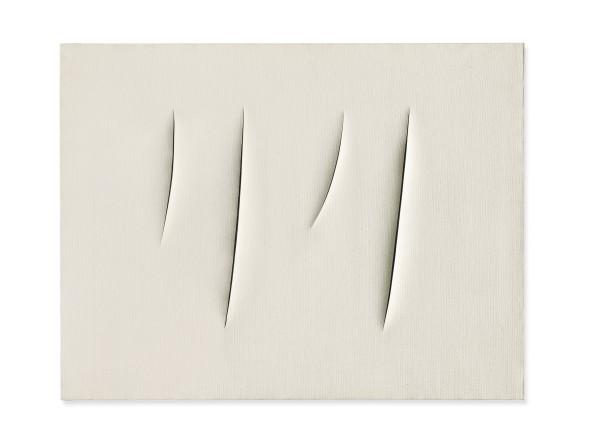 "<span class=""artist""><strong>Lucio Fontana</strong></span>, <span class=""title""><em>Spatial Concept, Waiting</em>, 1960</span>"