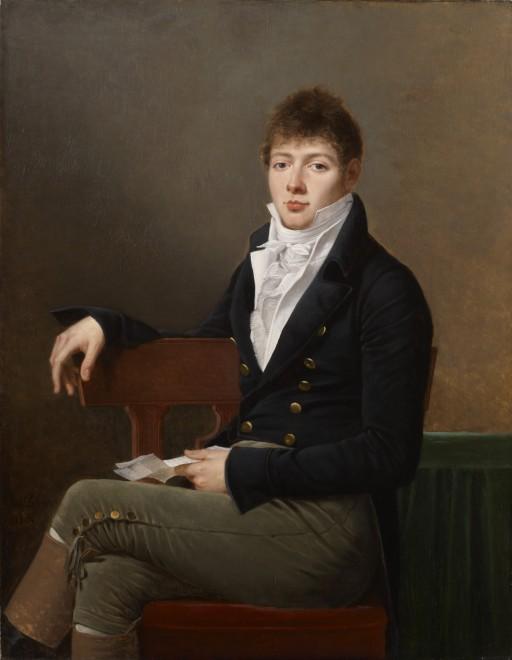 """<span class=""""artist""""><strong>Robert Jacques Francois Lefevre</strong></span>, <span class=""""title""""><em>Portrait of Michael Elias Meyer</em>, 1804</span>"""