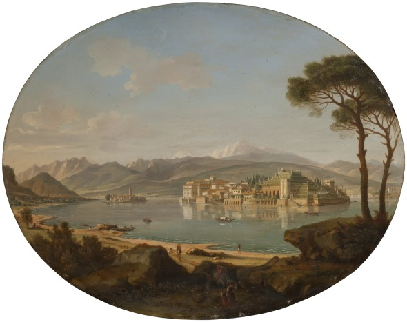 """<span class=""""artist""""><strong>Gaspar Van Wittel, Called Vanvitelli</strong></span>, <span class=""""title""""><em>A View of Lago Maggiore with the Isole Borromee</em></span>"""