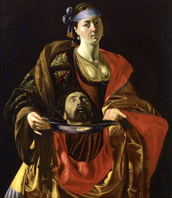 """<span class=""""artist""""><strong>Attributed to Juan Bautista Maino</strong></span>, <span class=""""title""""><em>Salome with the Head of Saint John the Baptist</em>, ca. 1611</span>"""