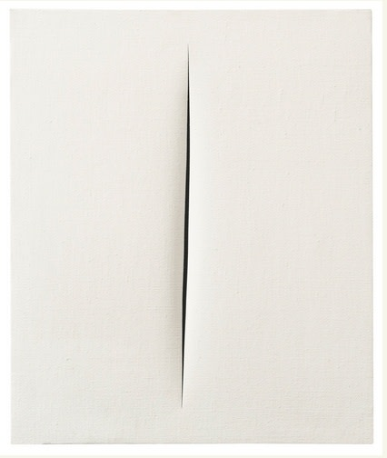 "<span class=""artist""><strong>Lucio Fontana</strong></span>, <span class=""title""><em>Concetto Spaziale, Attesa</em>, 1965</span>"