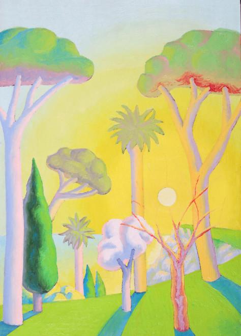 """<span class=""""artist""""><strong>Salvo</strong></span>, <span class=""""title""""><em>Landscape</em>, 1986</span>"""