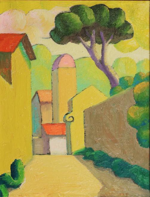 """<span class=""""artist""""><strong>Salvo</strong></span>, <span class=""""title""""><em>Landscape</em>, 1985</span>"""