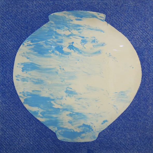 "<span class=""artist""><strong>Ik-Joong Kang</strong></span>, <span class=""title""><em>Blue Moon Jar with Blue Dots</em>, 2014</span>"