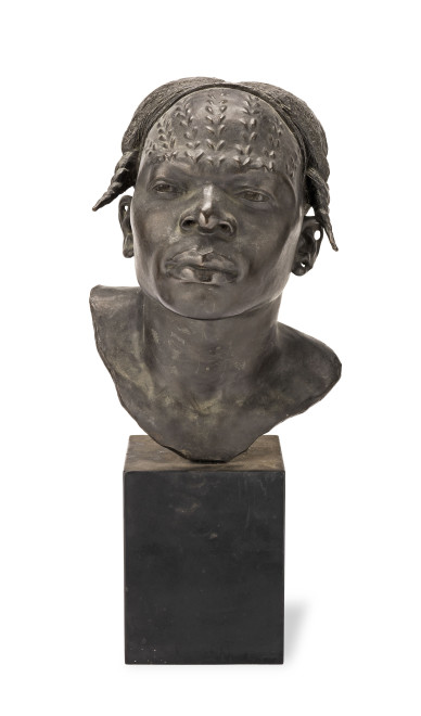 "<span class=""artist""><strong>Herbert Ward</strong></span>, <span class=""title""><em>Bust of a Man from the Vicinity of the Arumini River</em>, About 1900</span>"
