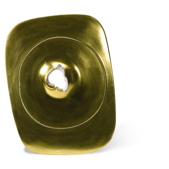 """<span class=""""artist""""><strong>Lucio Fontana</strong></span>, <span class=""""title""""><em>Concetto Spaziale Cratere</em>, 1968</span>"""