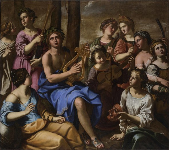 """<span class=""""artist""""><strong>Antiveduto Gramatica</strong></span>, <span class=""""title""""><em>Apollo and the Muses</em></span>"""
