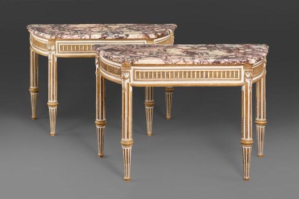 "<span class=""title""><em>A pair of Italian Louis XVI console tables</em>, 1790s</span>"
