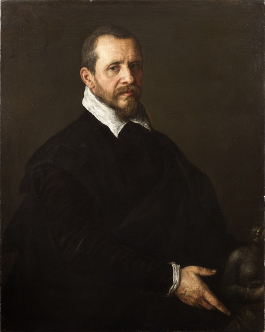 "<span class=""artist""><strong>Jacopo da Ponte, Jacopo Bassano</strong></span>, <span class=""title""><em>Portrait of a Gentleman with a Sculpture</em>, 1595</span>"