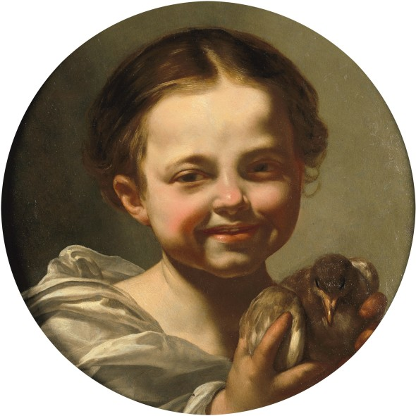 "<span class=""artist""><strong>Simon Vouet</strong></span>, <span class=""title""><em>Portrait of a young girl holding a bird</em></span>"