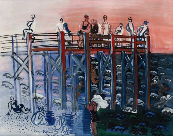 Raoul Dufy, L'estacade au Havre, c.1924-25