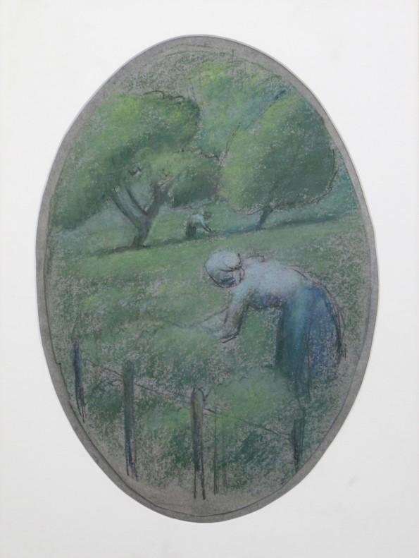 Julio Gonzalez, Paysans dans une prairie, c.1919-20