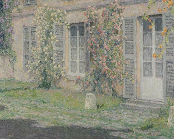 Henri Le Sidaner, Les Roses Au Soleil du Matin, 1924