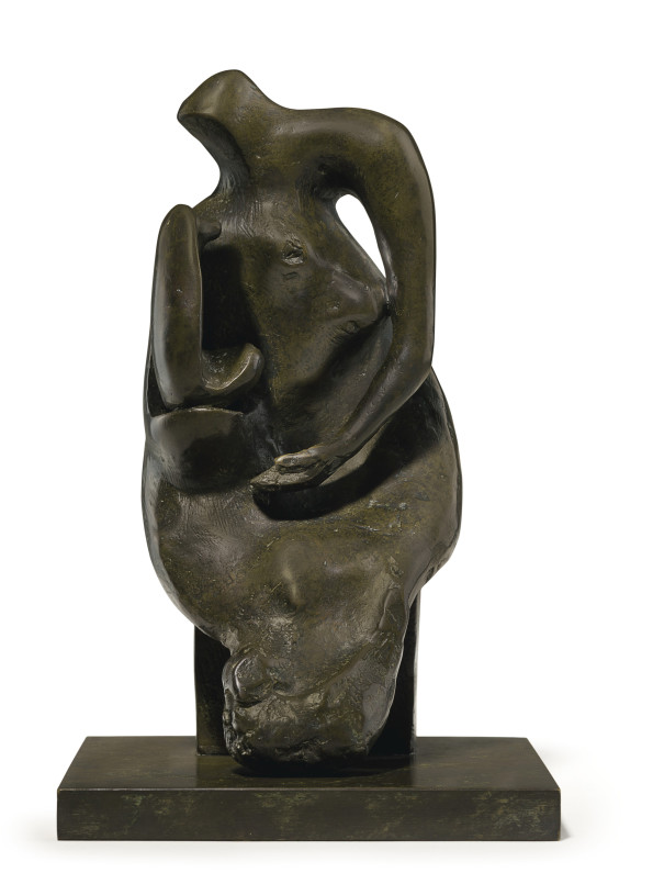 Henry Moore, Maquette for Mother and Child: Block Seat, 1981