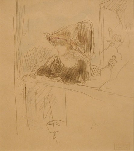 Jules Pascin, Girl at the bar, 1918