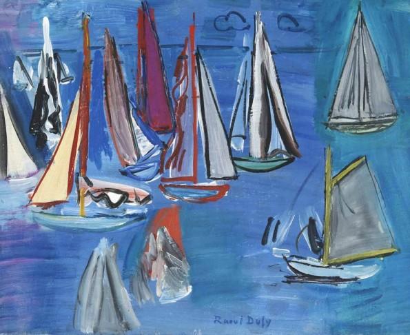 Raoul Dufy, Régates, 1925