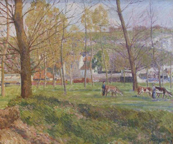 Georges Manzana-Pissarro, Un paysage pastoral, 1901