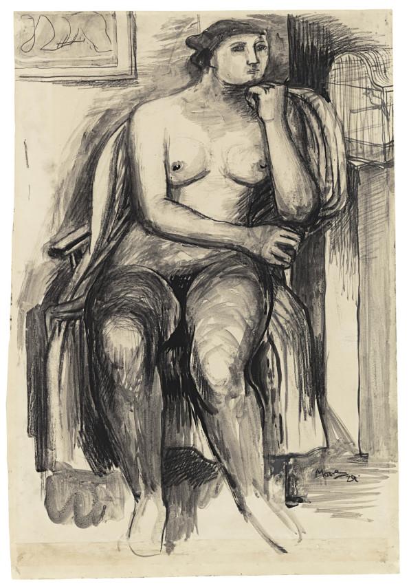 Henry Moore, Seated Female Nude, 1929