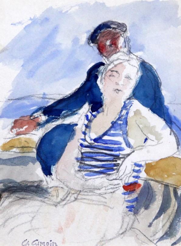 Charles Camoin, Promenade en Barque, 1932