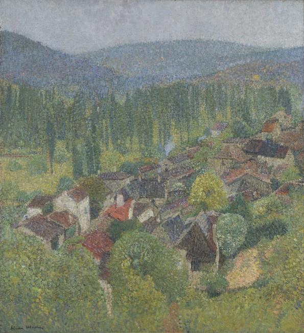 Henri Martin, Vue des toits de Labastide-du-Vert en été, c.1930