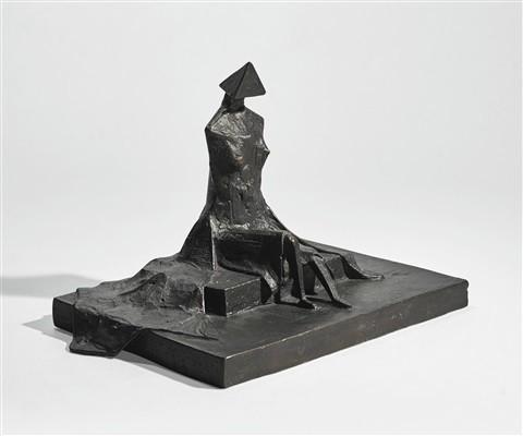 <span class=&#34;artist&#34;><strong>Lynn Chadwick</strong></span>, <span class=&#34;title&#34;><em>Sitting Woman in Robes II</em>, 1987</span>