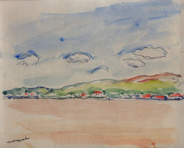 Albert Marquet, Maisons au bord du Danube, 1933