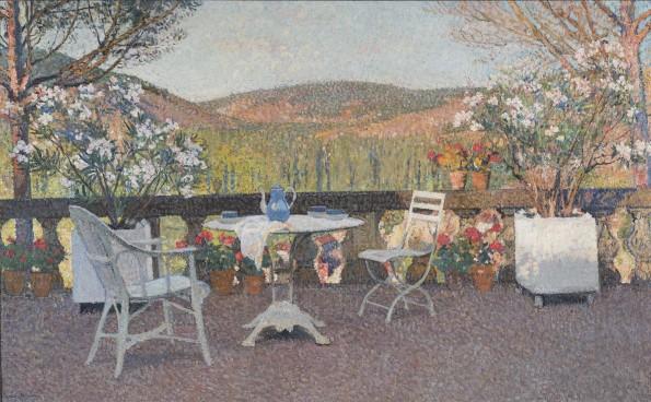 Henri Martin, L'heure du thé sur la terrasse de Marquayrol , c.1930