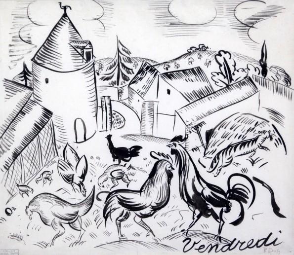Raoul Dufy, Cour de ferme, 'Vendredi', 1910