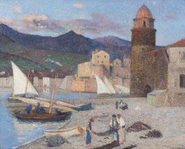 Henri Martin, Collioure, le port de séchage, 1920