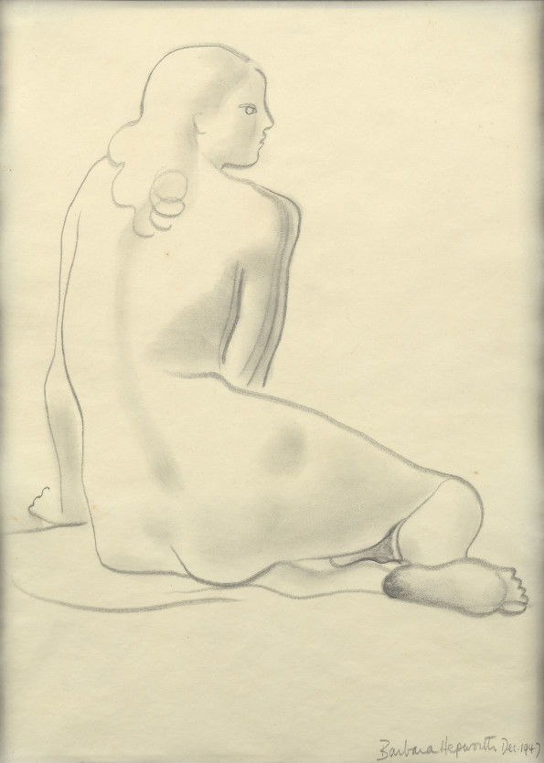 Barbara Hepworth, Seated Nude, 1947