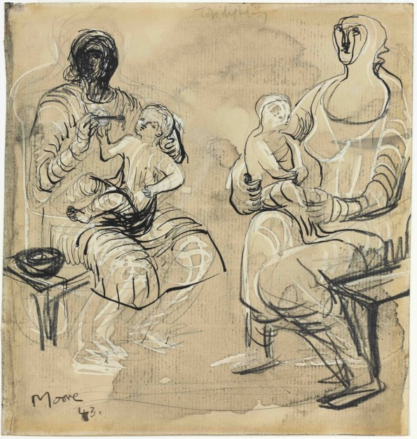 Henry Moore, Madonna and Child Studies, 1943