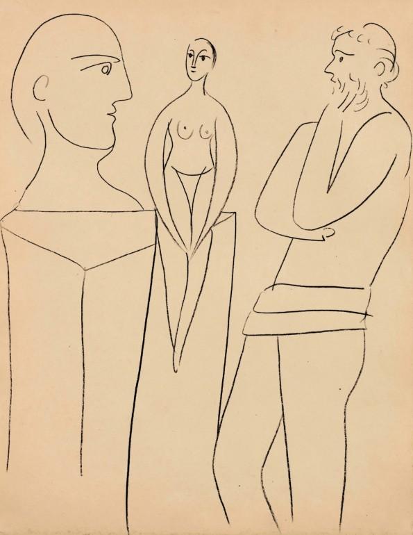 Pablo Picasso, Le sculpteur et son modèle, 27 November 1931