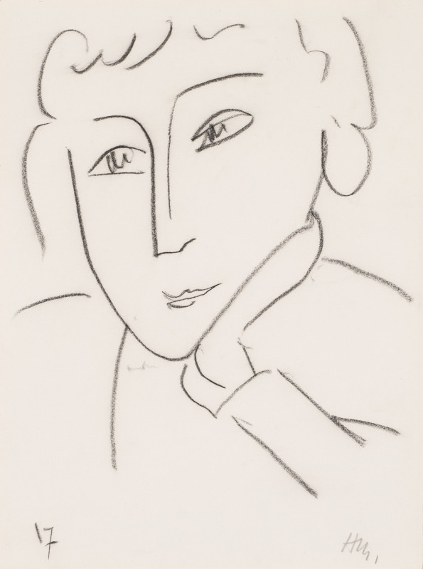 <span class=&#34;artist&#34;><strong>Henri Matisse</strong></span>, <span class=&#34;title&#34;><em>Head of a Woman, Leaning on Her Left Hand</em>, 1952</span>