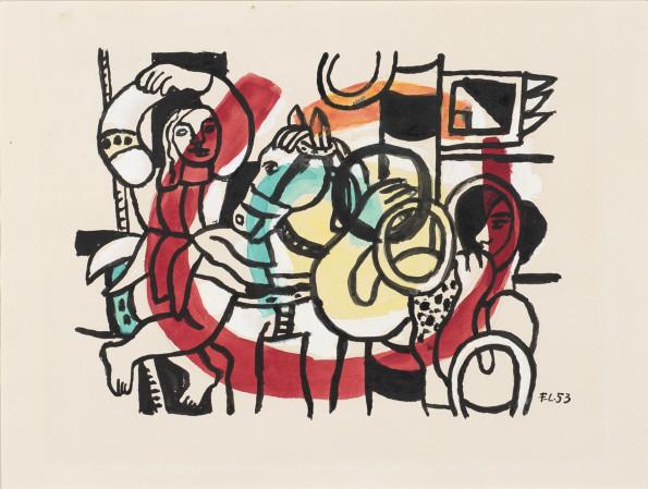 Fernand Leger, Le Jongleur et L'Acrobate, 1953