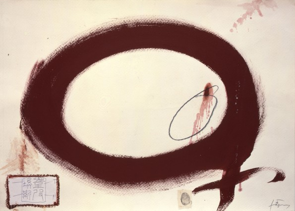 "<span class=""artist""><strong>Antoni Tàpies</strong></span>, <span class=""title""><em>Cercle rogenc / Reddish circle</em>, 2004</span>"