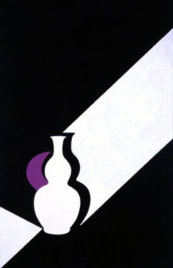 "<span class=""artist""><strong>Patrick Caulfield</strong></span>, <span class=""title""><em>Arita Flask : Black</em>, 1989</span>"