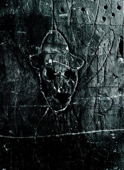 """<span class=""""artist""""><strong>Brassaï</strong></span>, <span class=""""title""""><em>Graffiti de la série VIII, La magie </em>, 1935–1950</span>"""