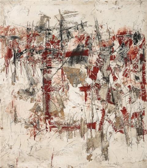 """<span class=""""artist""""><strong>Vlassis Caniaris</strong></span>, <span class=""""title""""><em>Hommage aux murs d'Athenes 1941-19 ... </em>, 1959</span>"""