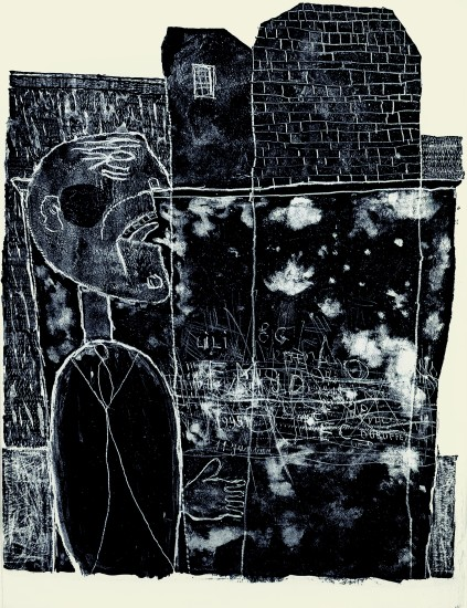 "<span class=""artist""><strong>Jean Dubuffet</strong></span>, <span class=""title""><em>Homme coince dans Les murs janvier 1945 </em>, 1945</span>"