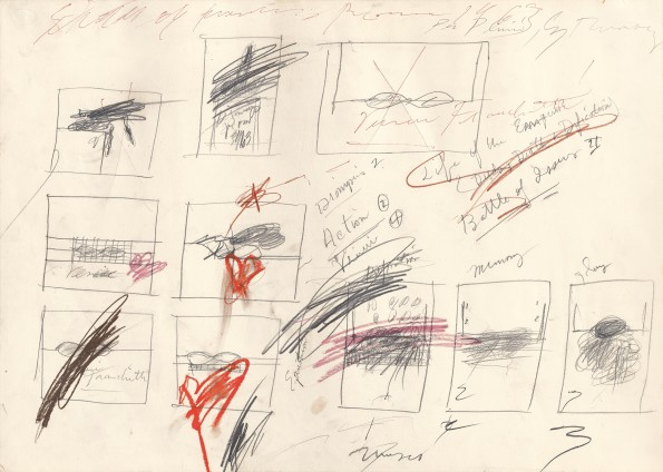 """<span class=""""artist""""><strong>Cy Twombly</strong></span>, <span class=""""title""""><em>Untitled (Study of Painting)</em>, 1963</span>"""