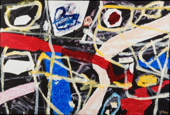 """<span class=""""artist""""><strong>Jean Dubuffet</strong></span>, <span class=""""title""""><em>Donnée (H 12) 26 avril 1984</em>, 1984</span>"""