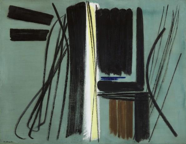 "<span class=""artist""><strong>Hans Hartung</strong></span>, <span class=""title""><em>T1952-45</em>, 1952</span>"
